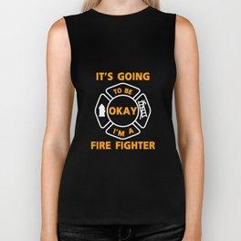 I'm A Firefighter Fire Man Chief Funny  Gift Biker Tank