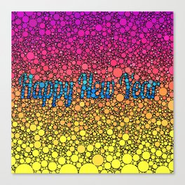 Happy New Year, Bubbles Canvas Print