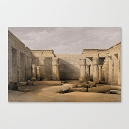 Ruins at Medinet Abou, Thebes, Egypt Canvas Print