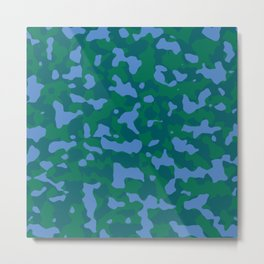 Shaded Meadow Camouflage Metal Print
