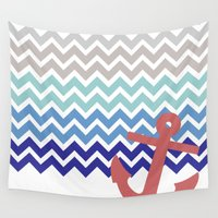 nautical Wall Tapestries featuring Nautical  by emain