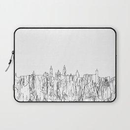 Glasgow, Scotland UK Skyline B&W - Thin Line Laptop Sleeve