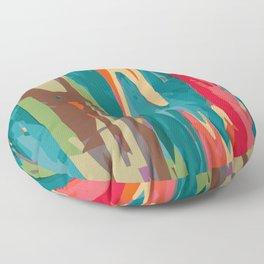 Rainbow Eucalyptus Floor Pillow
