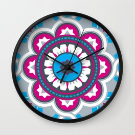 Chilean Flower Wall Clock