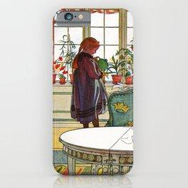 Carl Larsson - Flowers On The Windowsill   iPhone Case