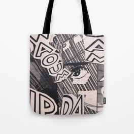 Black and white Pop Art Manga Collage Tote Bag