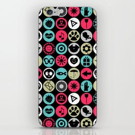 Colorful pattern with various elements iPhone Skin