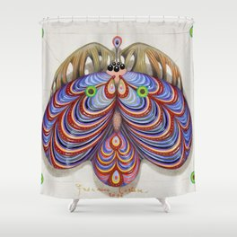 moth of darkness (original sold). Shower Curtain
