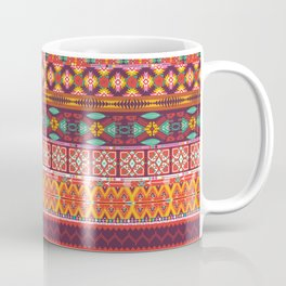 Seamless colorful aztec carpet with birds,flowers and arrow Coffee Mug