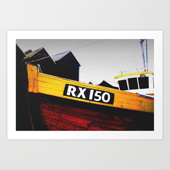 Hastings Fishing Boat Art Print