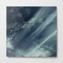 Cloud and sky 11 -cloud, sky, blue, positive,optimism Metal Print