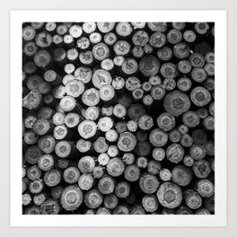 Black and White Lumber Art Print