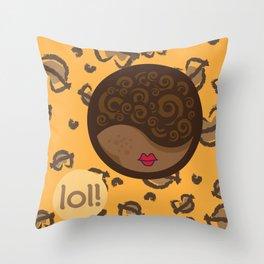 AFRO-LOLITA Throw Pillow