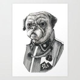Mr. Pug Art Print