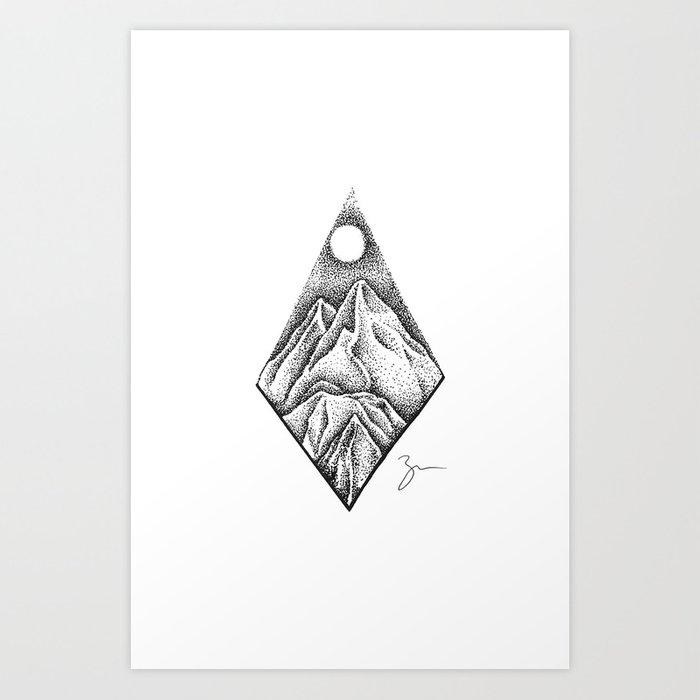 Dot mountains art print