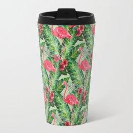 Flamingos Pattern II Travel Mug