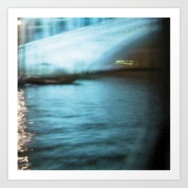 City Lights: Venice – Canal Grande – Ponte di Rialto # 201 Art Print