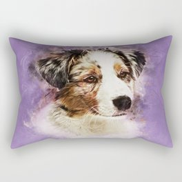 Australian Shepherd - Aussie Puppy Rectangular Pillow