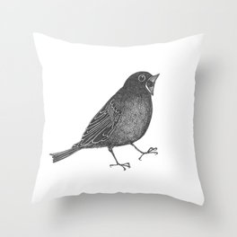 mr screamy the bird yells at the top of his lungs Throw Pillow
