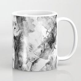 Black and white Elephant Digital Art Coffee Mug