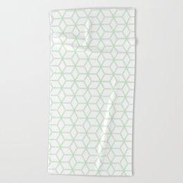 Hive Mind Mint Green #216 Beach Towel
