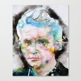MARIE CURIE - watercolor portrait Canvas Print
