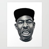 tyler the creator Art Prints featuring IFHY (Tyler the creator) by Black Neon
