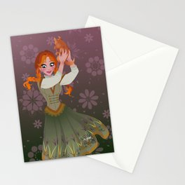 Frozen Anna Casual Stationery Cards