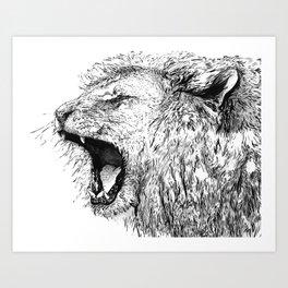 Lion's Roar Art Print