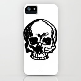 Black and White Pirate Skull, Vibrant Skull, Super Smooth Super Sharp 9000px x 11250px PNG iPhone Case