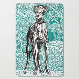 Greyhound Dog Print by Moriz Jung, 1912 Cutting Board