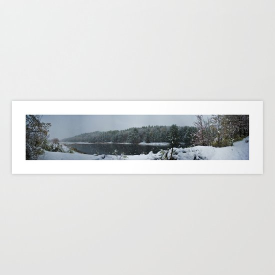 Winter Panorama Art Print