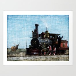 Iron Horse Invades the Plains Art Print