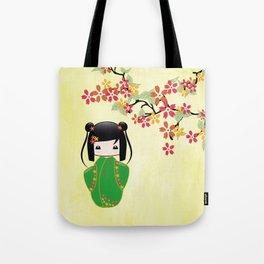 Sakura Kokeshi Doll Tote Bag