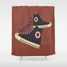 Retro Shoes Shower Curtain
