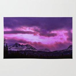 Chugach Mountains in Purple - II Rug