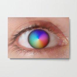 I see all the Colors - Geometric Pantone Eye Vision Metal Print