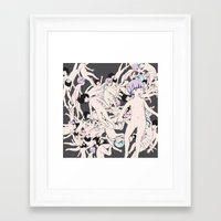 cosmos Framed Art Prints featuring Cosmos by Studio Anemone