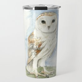 Barn Owl - Watercolor Travel Mug