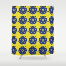 Japanese Samurai flower Shower Curtain