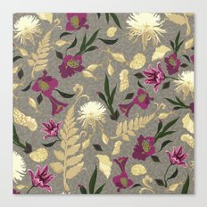 Flowers & Sea Shells Canvas Print