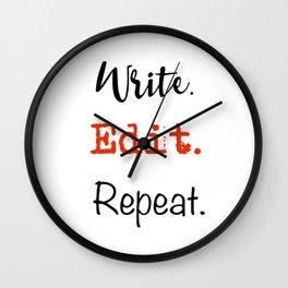 Write. Edit. Repeat. Wall Clock