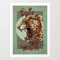 Jaguar King Art Print