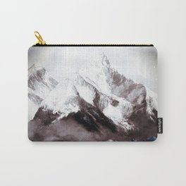 Panoramic View Of Everest Mountain Painting Carry-All Pouch