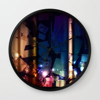 the lights Wall Clocks featuring Lights by Tina Stamatopoulou