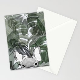 Hinding Frenchy - grey Stationery Cards