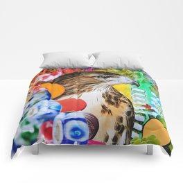 Psychedelic Hawk Comforters