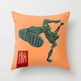 Capoeira Cyborg Throw Pillow