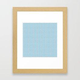 Indian Flowers Blockprint 1 (Mid Blue) Framed Art Print