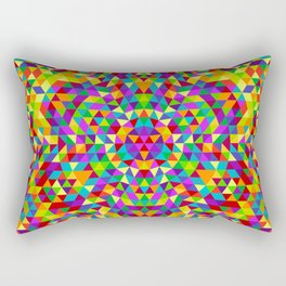 Happy triangle mandala 2 Rectangular Pillow